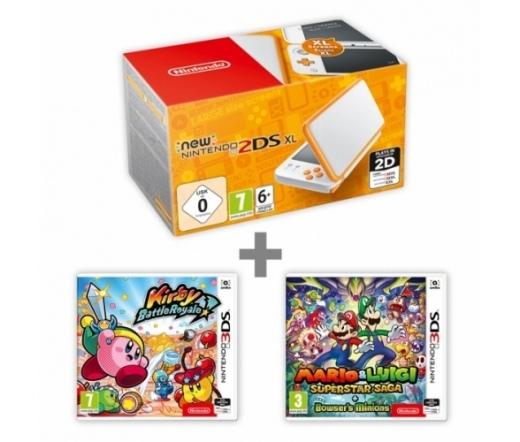 New N2DS XL White&Orange + KBR + M:Supersaga