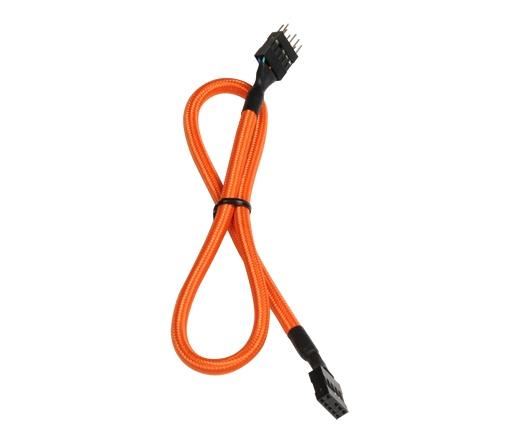 BitFenix belső audio hosszabbító 30cm narancs/fek.
