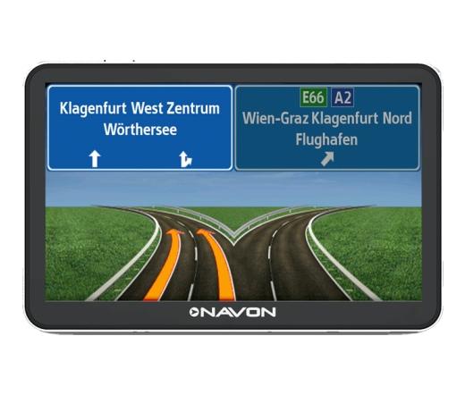 Navon N670 Plus fekete + iGO8 Magyarország