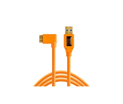 TetherPro USB 3.0 A male to Micro B Right Angle -