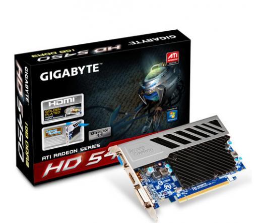 Gigabyte GV-R545SC-1GI ATI Radeon HD 5450 Passzív