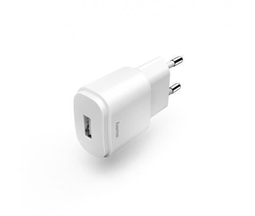 HAMA hálózati töltő USB 1,2A fehér
