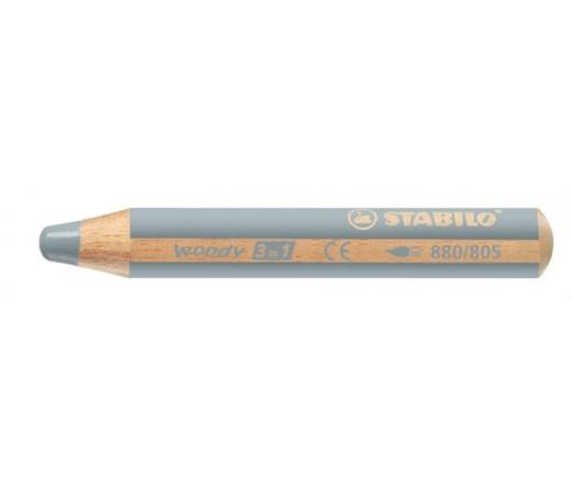 Stabilo Színes ceruza, kerek, vastag, ezüst