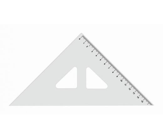 Koh-I-Noor Háromszög vonalzó, műanyag, 45 °