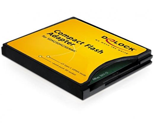 Delock CompactFlash adapter SDHC / MMC kártyákhoz
