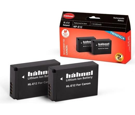 Hahnel HL-E12 Twin Pack (Canon LP-E12 850mAh)