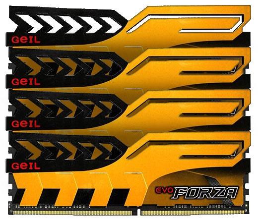 Geil Evo Forza DDR4 2400MHz CL16 Kit4 16GB sárga