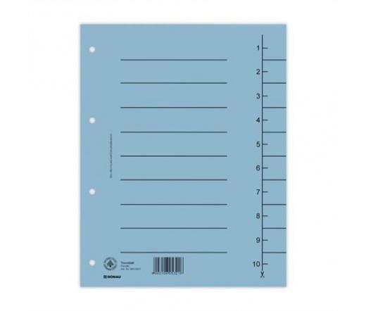 Donau Regiszter, karton, A4, kék (100 db)