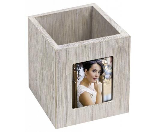 ZEP Nara weiß Pen Box   10x10x11 Wood for 1 Photo