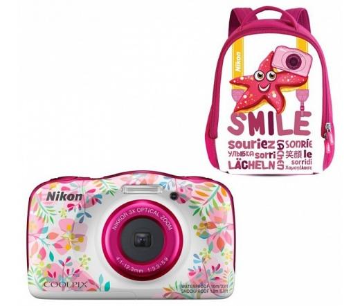 Nikon Coolpix W150 Virágos + Hátizsák Kit