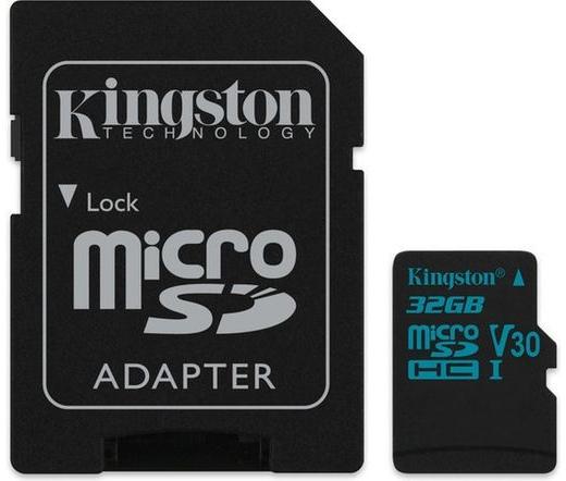 Kingston Canvas Go! microSD 90MB/s 32GB + adap.