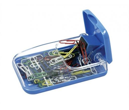 """ICO """"988"""" Gemkapocstartó, mágneses, átlátszó-kék"""