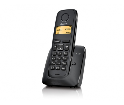 GigaSet Eco Dect A120 Fekete