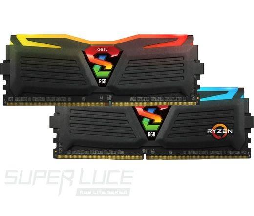 GeIL Super Luce RGB Sync 2400MHz Kit2 8GB fekete