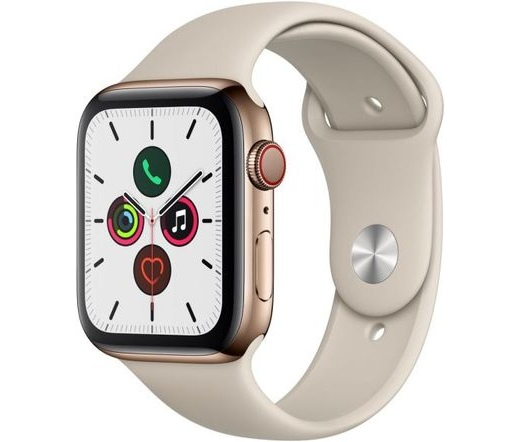 Apple Watch S5 44mm LTE acél arany/k.szürke sp.sz.