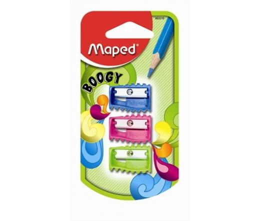 """Maped """"Boogy"""" Hegyező, vegyes színek (3db)"""