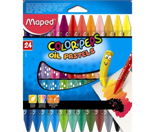 "Maped Olajpasztell kréta,  ""Color`Peps"", 24 db."