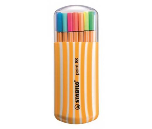 Stabilo Tűfilc készlet, 0,4 mm,  15+5 szín