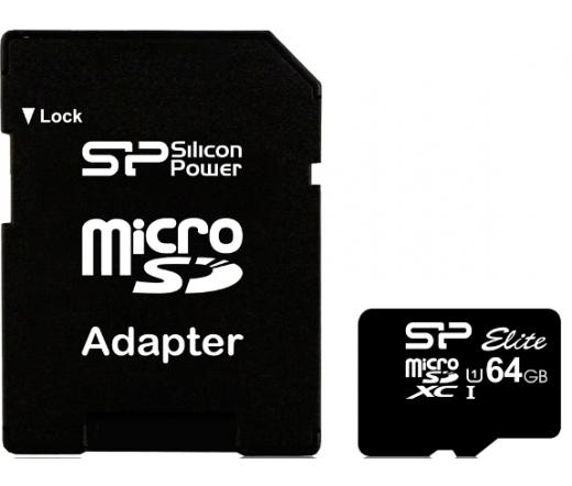 Silicon Power microSDHC Elite UHS-1 64GB + adapter