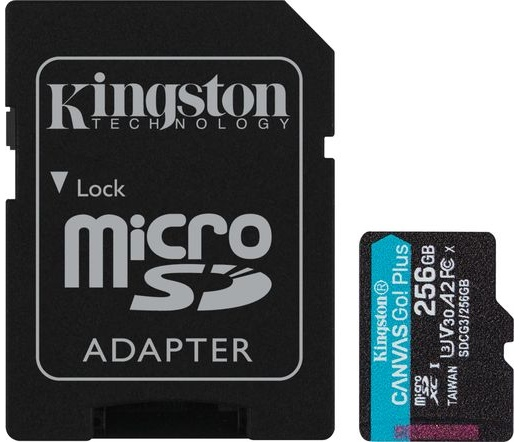 Kingston Canvas Go! Plus microSDXC 256GB + adapter