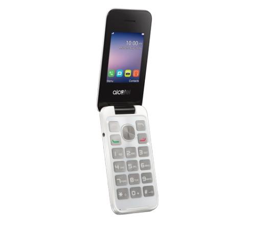 Alcatel 2051 Dual SIM tiszta fehér