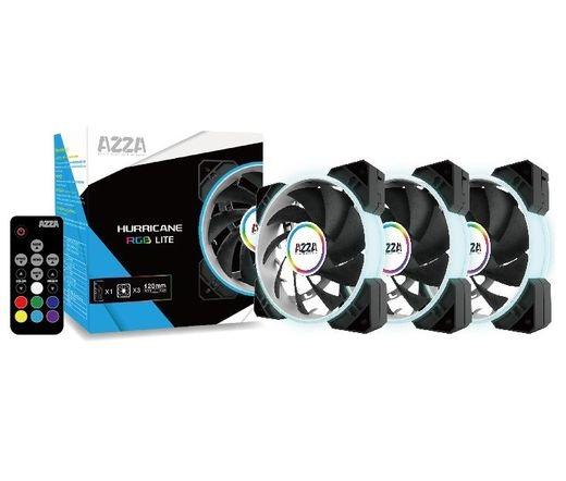 Azza Hurricane Lite RGB kit 3 db + RF távirányító