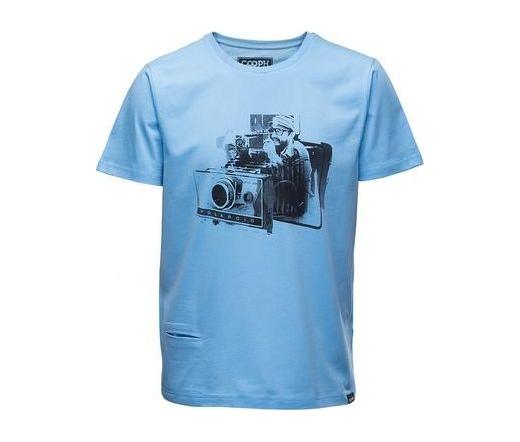 Cooph férfi póló Fidelaroid éteri kék S