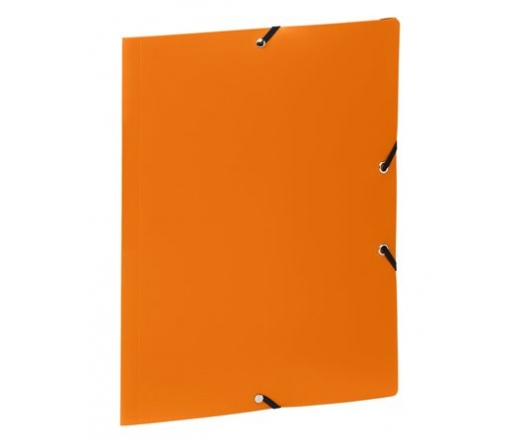 "Viquel ""Standard"" gumis mappa, 15 mm, narancssárga"