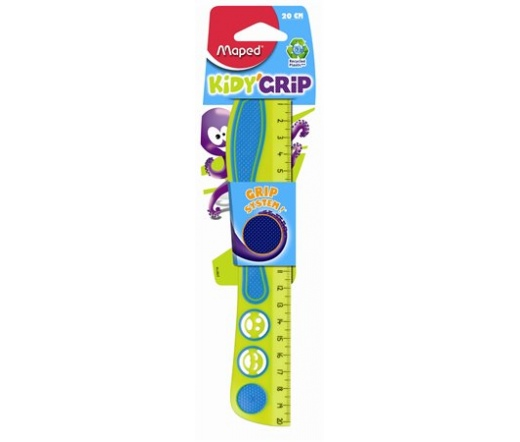 "Maped ""Kidy Grip"" Vonalzó, műanyag, 20 cm"