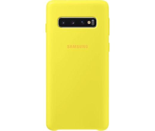 Samsung Galaxy S10 szilikontok sárga