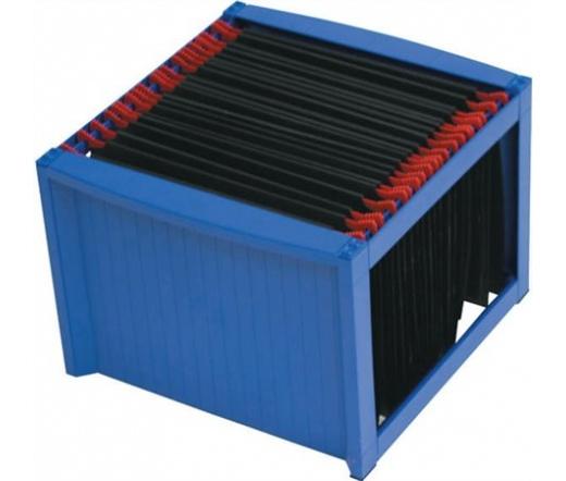 Helit függőmappa tároló, műanyag, kék