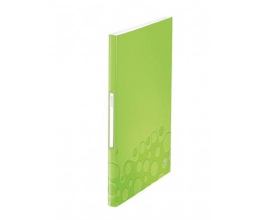 """Leitz """"Wow"""", zöld, 40 zsebes, A4"""