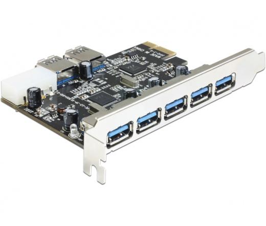 Delock PCI Express > 5 x külső + 2 x belső USB3.0