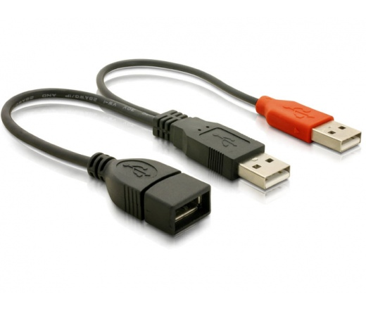Delock USB 2.0 Y adat és tápkábel