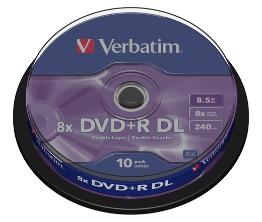 DVD+R Verbatim 8.5Gb 8x Dual Layer Jewel