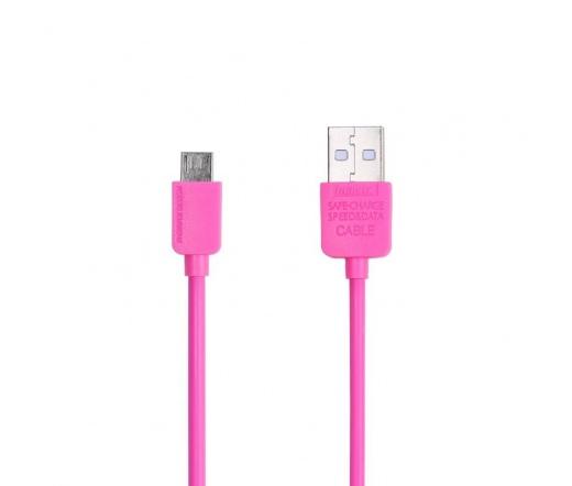 Remax Light microUSB 1m Rózsaszín