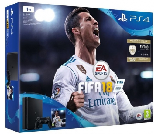 Playstation 4 Slim 1TB  FIFA 18 + DS4 kontroller