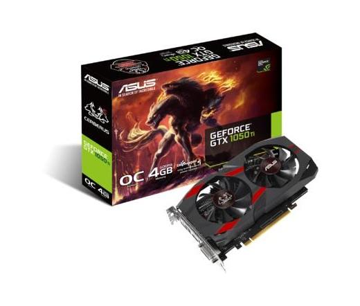 Asus CERBERUS-GTX1050TI-O4G 4GB DDR5