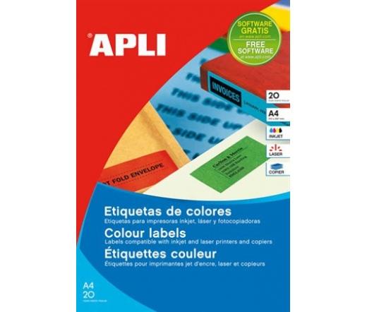 APLI 70x37mm színes zöld 480db/cs