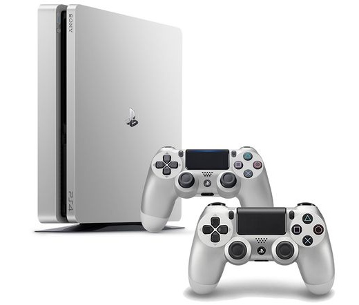 Sony PlayStation 4 Slim 500GB ezüst + kontoller