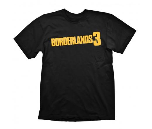 "Borderlands 3 ""Logo"" Póló fekete, M GE6470M"