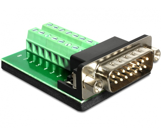 Delock Adapter Sub-D 15 pin Gameport Anya > Termi
