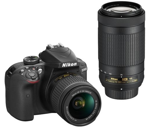 Nikon D3400 + AF-P 18-55 VR + AF-P 70-300 VR