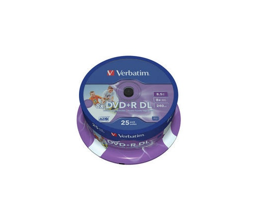 Verbatim DVD+R 8,5GB 8X DOUBLE LAYER PRINT. CAKE*2