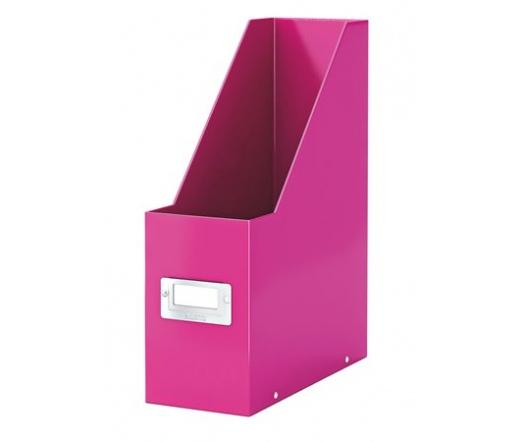 Leitz Iratpapucs, 95 mm, lakkfényű, Rózsaszín