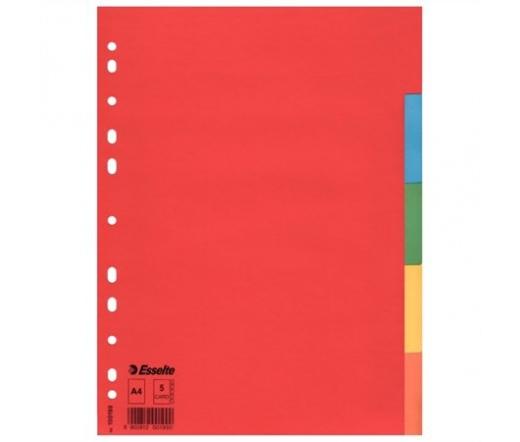 Esselte Regiszter, karton, Economy színes