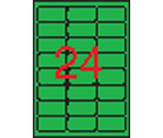 APLI 64x33,9mm kerekített neon zöld 480db/cs