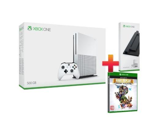 Microsoft Xbox One S 500GB + Rare Replay + állvány