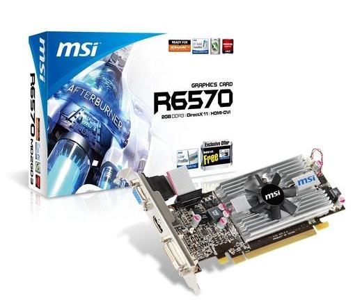 MSI Radeon HD6570 2048MB DDR3 Low Profile