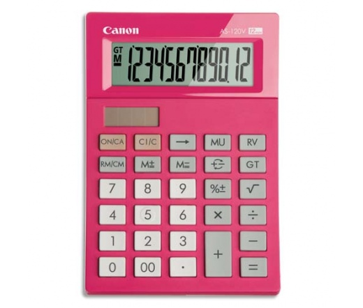 CANON AS-120V-PK asztali mini számológép pink